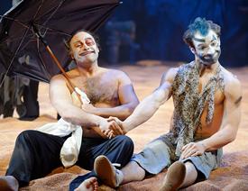 Irakli Kavsadze as King Lear and Ira Koval as Goneril (Photo: Graeme B. Shaw)