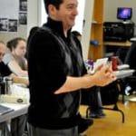 PJ Paparelli in 2012, rehearsing Two Gentlemen of Verona (Photo: Nicole Geldart)