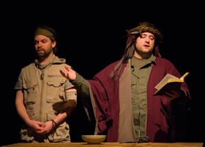 Matt Dewberry as Gruoch, Joe Carlson as Macbeth  (Photo: Johannes Markus)