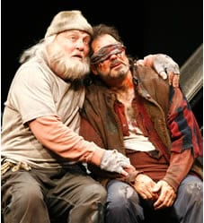 Stacy Keach as King Lear and Edward Gero as Gloucester in the 2009 Goodman/STC production of King Lear