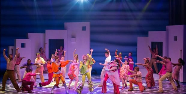 North American Tour cast of Mamma Mia! (Photo: Kevin Thomas Garcia)