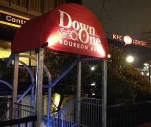Steaks and bourbon the specialty at Down One, located directly across from Actors Theatre