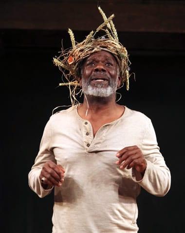 Joseph Marcell as King Lear in the Shakespeare Globe production (Photo: Ellie Kurttz.