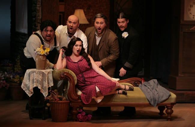 The cast of L'Heure Espagnole (Spanish Hour) at Castleton Festival