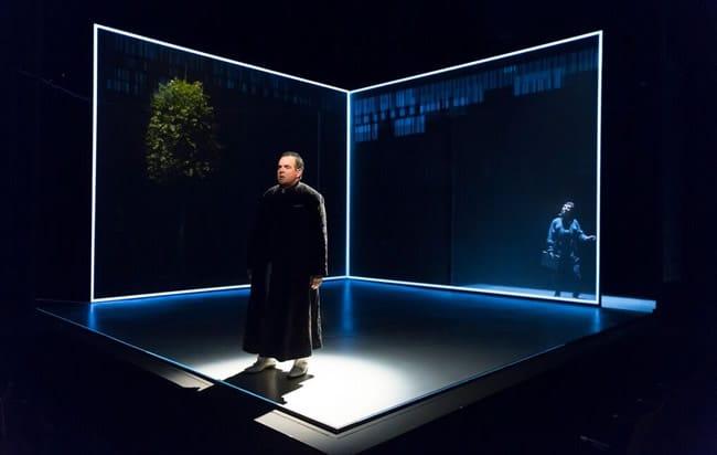 Edward Gero, Gabriela Fernandez-Coffey in The Nether, set by Sibyl Wickersheimer at Woolly Mammoth Theatre (Photo: Scott Suchman)