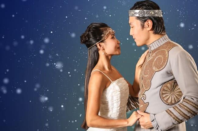 Eliza Smith as Sleeping Beauty, Zana Gankhuyag as her prince in Sleeping Beauty at Synetic Theater