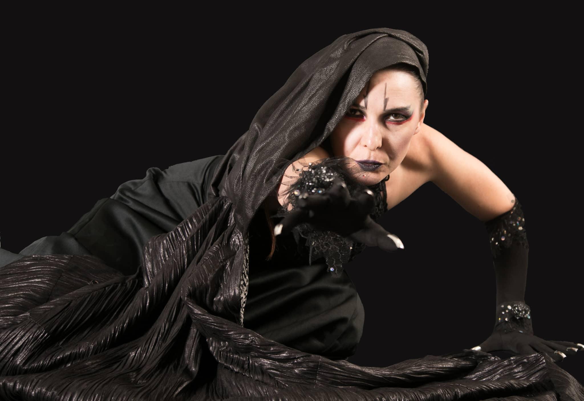 Irina Tsikurishvili as the Witch in Sleeping Beauty at Synetic Theater