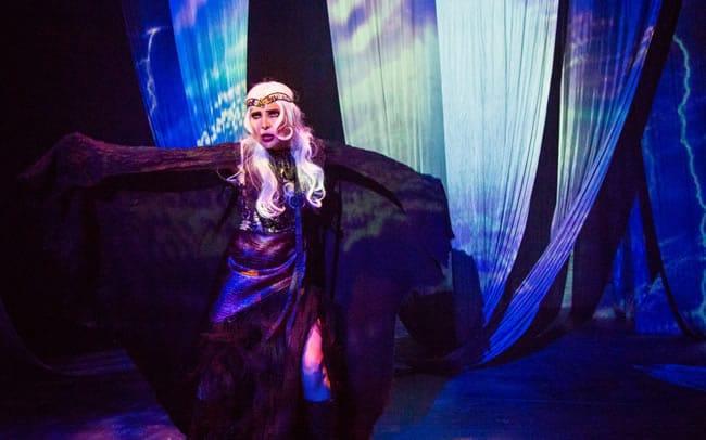 Irina Tsikurishvili as the witch in Synetic Theater's Sleeping Beauty (Photo: Johnny Shryock)