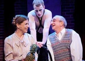Janet Petkofsky as Fraulein Schneider, Paul Scanlan as Emcee and Stan Shulman as Herr Schultz (Photo: C. Stanley Photography)