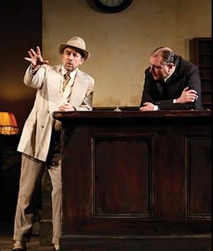 Richard Schiff as Erie Smith and Randall Newsome as Night Clerk (Photo: Carol Rosegg)