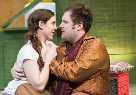 Dani Stoller as Teresa and Matt Dewberry as Huey (Photo: Brad Kalbfield)