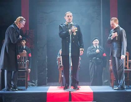 Jack Wetherall as Escalus, Kurt Rhoads as The Duke, Scott Parkinson as Angelo (Photo by Scott Suchman)