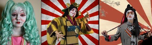 Some faces from Kabuki Coriolanus