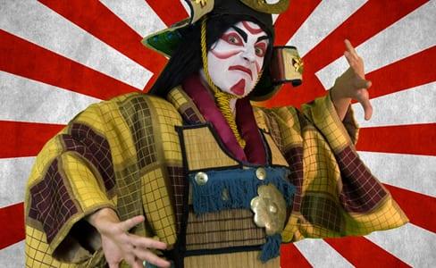warrior lumina studio creates kabuki coriolanus dc theatre scene