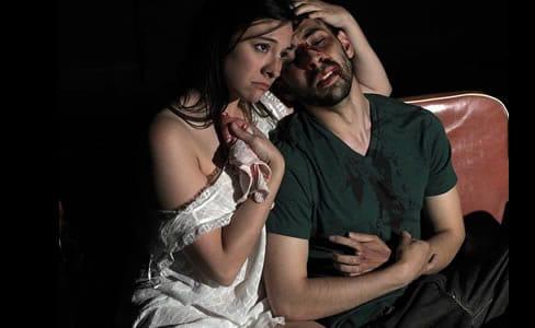 Jennifer Osborn as Dottie Smith and Matthew Marcus as Chris Smith (Photo: courtesy of SeeNoSun OnStage)