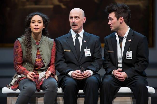 Kathryn Tkel, Mitchell Hébert and Josh Sticklin in The Guard at Ford's Theatre (Photo: Scott Suchman)