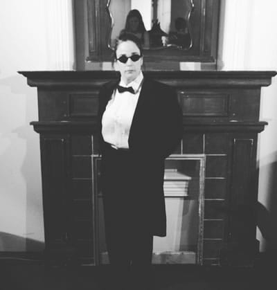 Tiffany Garfinkle as The Valet in No Exit from Nu Sass Productions (Photo courtesy of Nu Sass Productions)