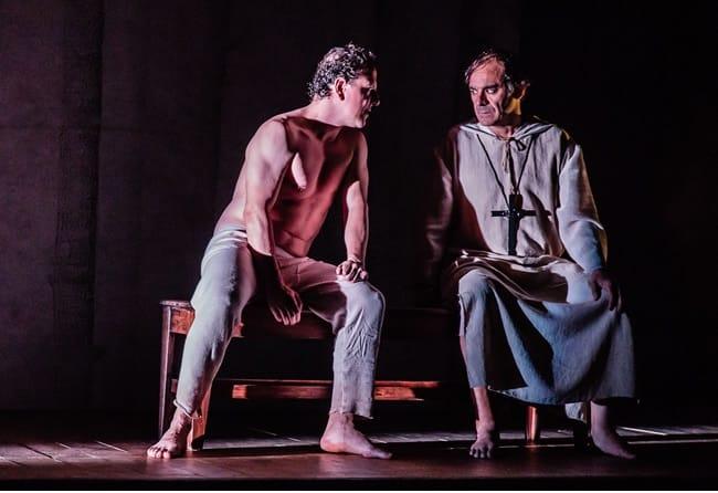 (l-r) Óscar de la Fuente and Eugenio Villota in Cervantes: The Last Quixote at GALA Hispanic Theatre.