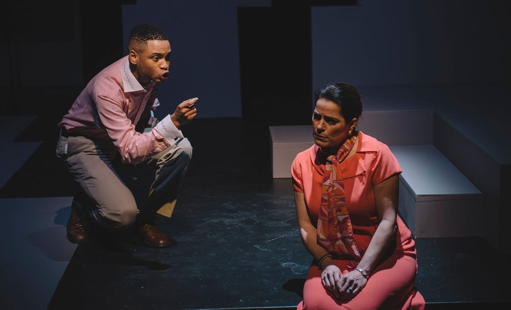 Ryan Swain and Susan Marie Rhea in Six Degrees of Separation at Keegan Theatre (Photo: Cameron Whitman)