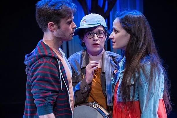 Robert Bowen Smith, Sophie Schulman And Katie Jeffries Zelonka In  Peekaboo!: A Nativity Play From Hub Theatre (Photo: C. Stanley Photography)